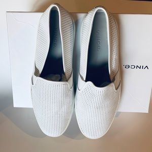 Beautiful Vince Leather Blair Slip On - White 7.5